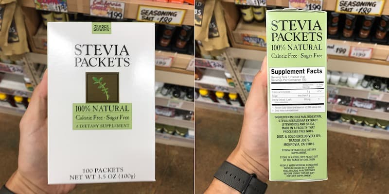 is trader joe's stevia packets safe