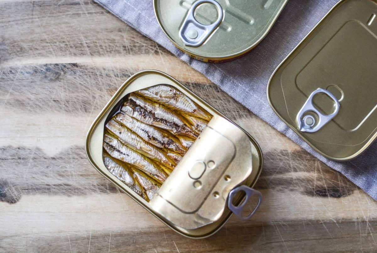 sardines canned lemon juice