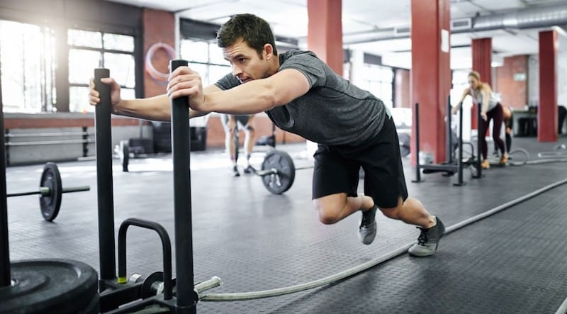 sled pushes self limiting exercise