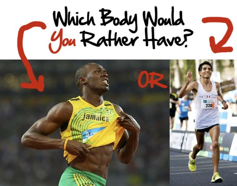 sprinter vs marathon runner physique