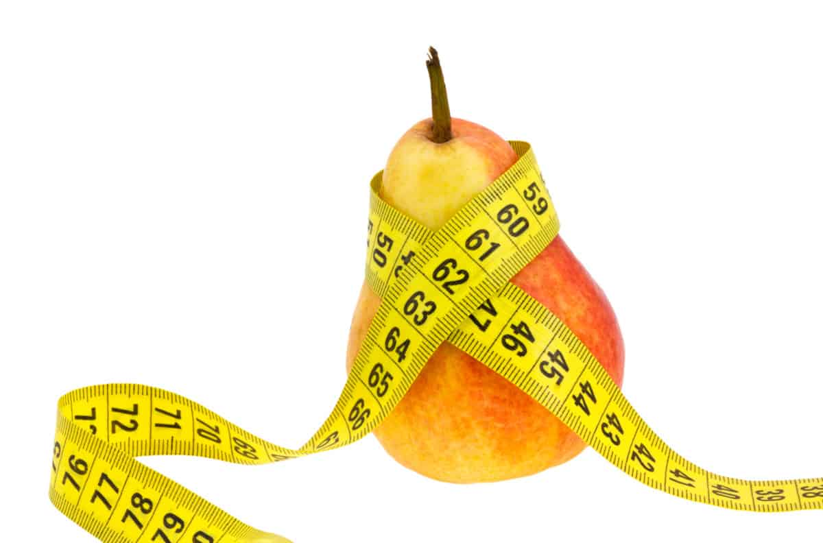 pear shaped body healthy diet