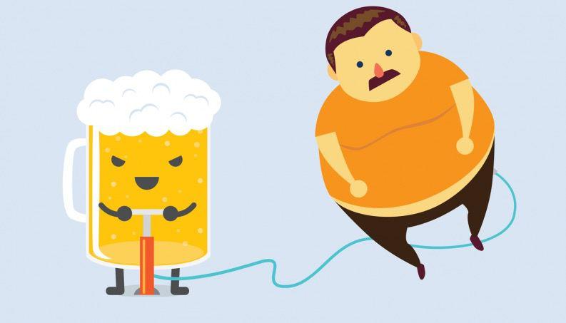 beer belly causes