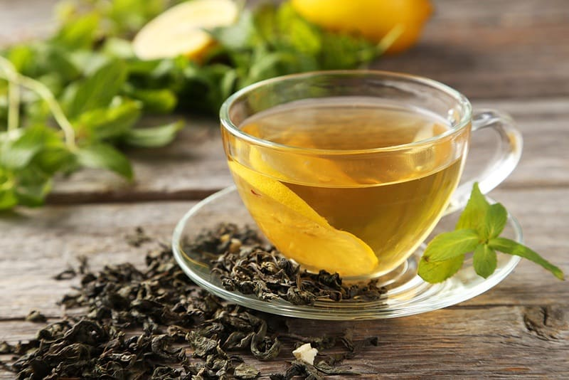 the green tea answer while fasting