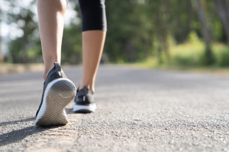 jogging walking