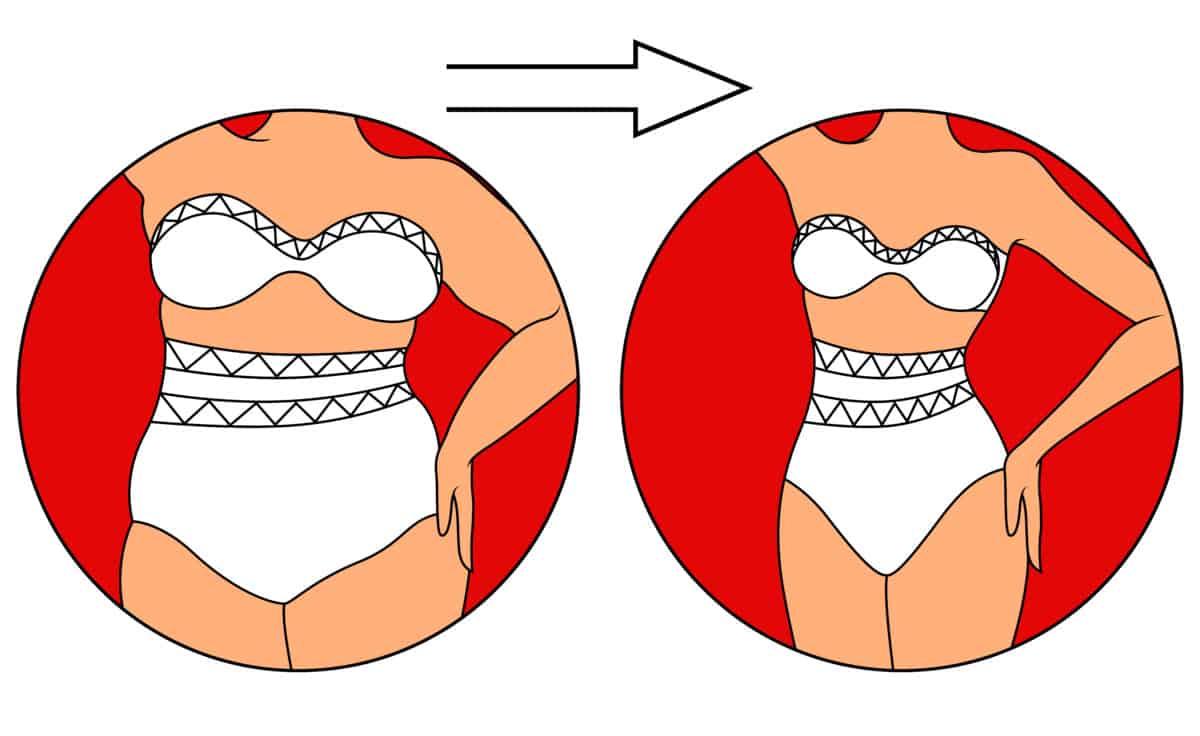 get rid of side boob fat