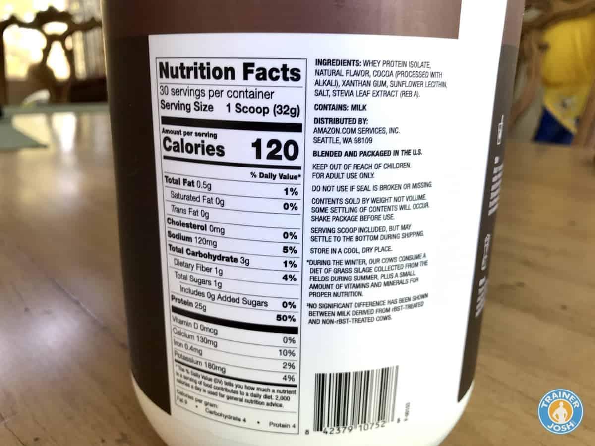 amazon elements protein ingredients