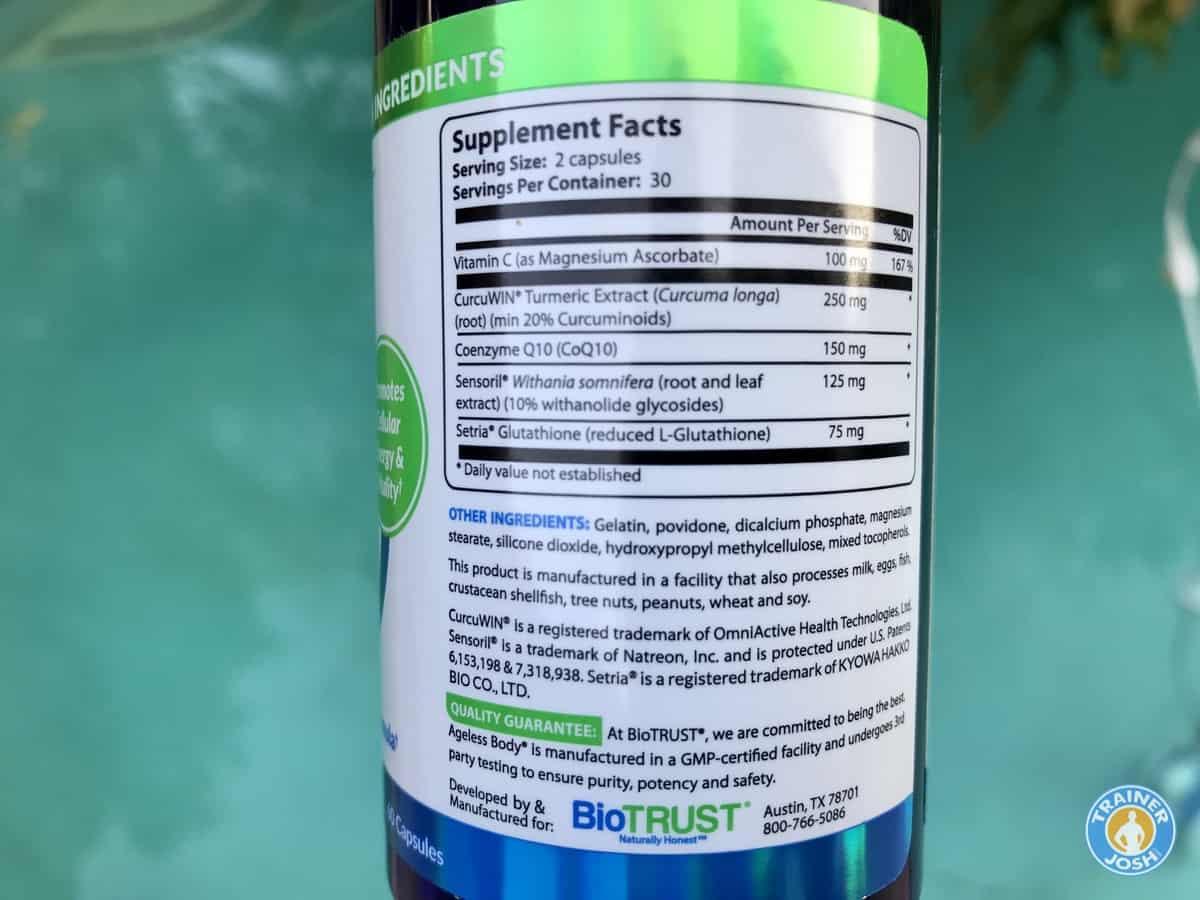 ageless body ingredients