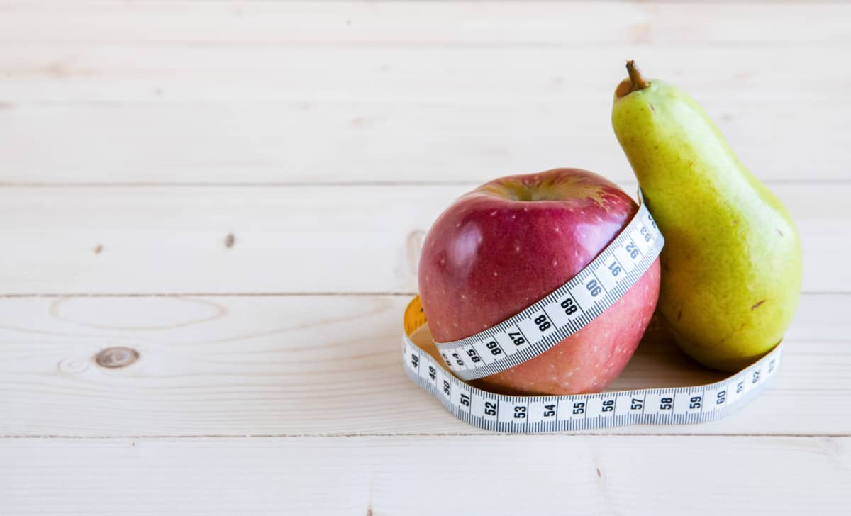 apple pear shaped body