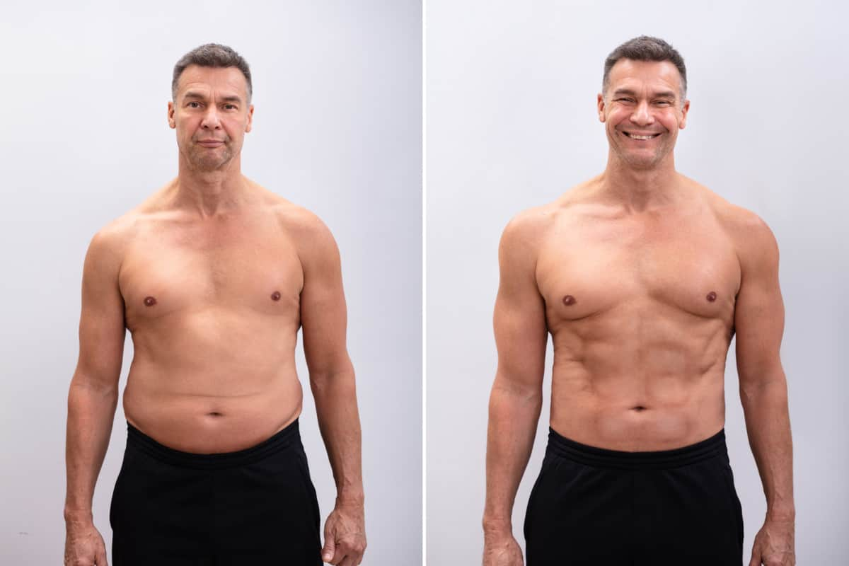 man skinny fat before and after