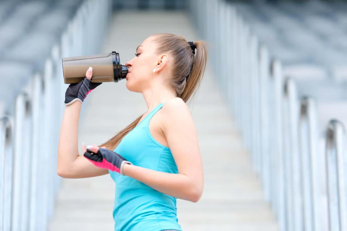 protein shake workout