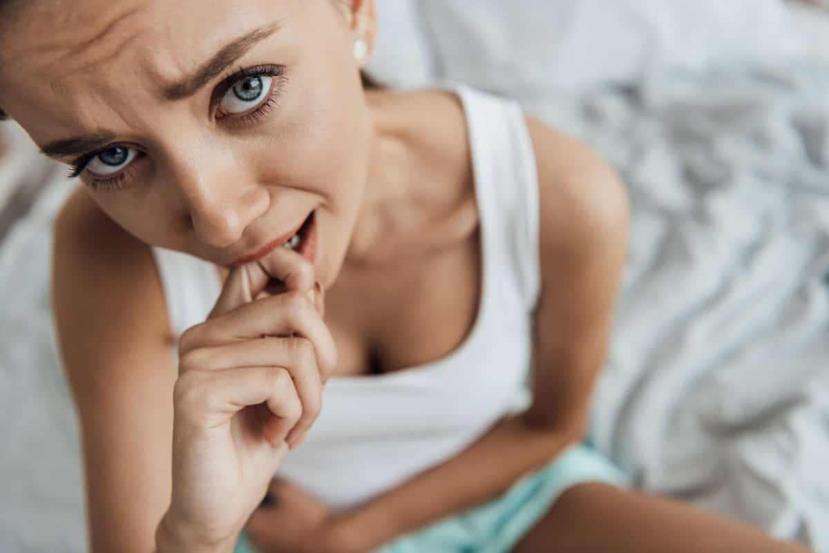 stress belly symptoms