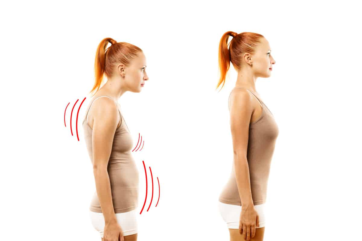 body posture big belly