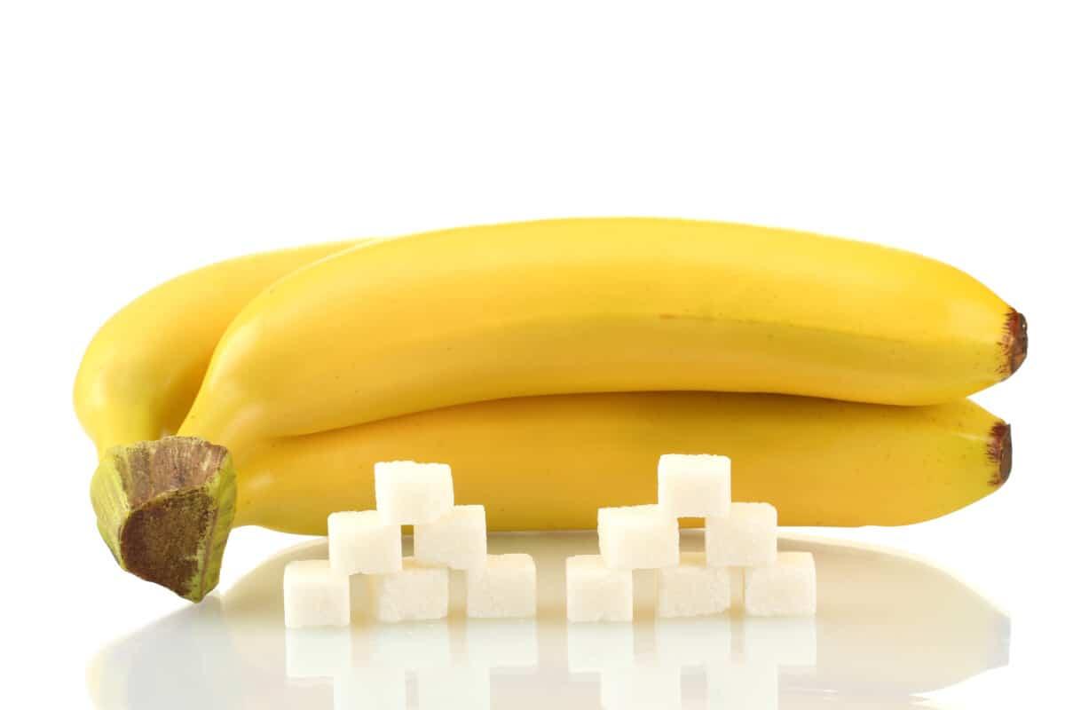 sugar in ripe banana