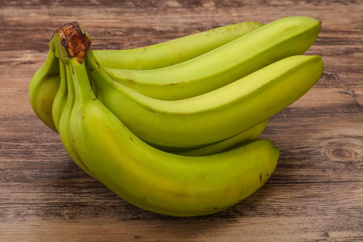 unripe banana green banana